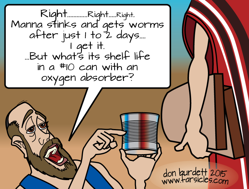 "Cartoon: ""Preppers of Ancient Israel"""