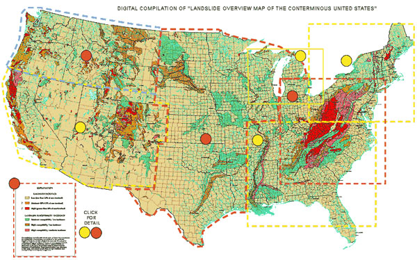 Landslides Map – USGS